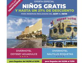 OFERTA ESPECIAL NIÑOS GRATIS Y HASTA UN 27% DE DESCUENTO